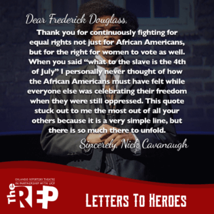 A letter to Frederick Douglass