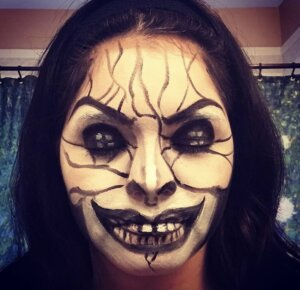 Example of scary character stage makeup