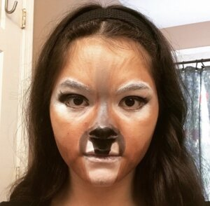 Example of Deer character stage makeup