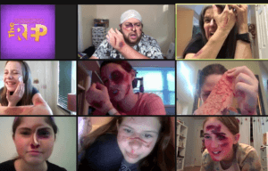 Screenshot of stage makeup cuts and bruises