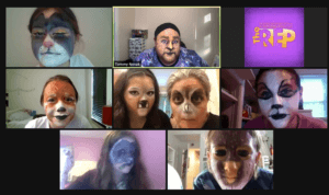 Screenshot of animal character stage makeup techniques