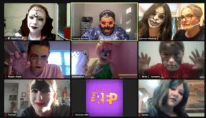 Screenshot of Halloween stage makeup