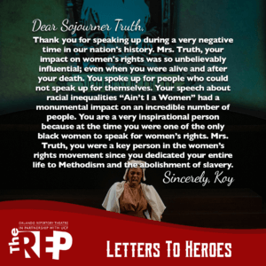 A letter to Sojourner Truth