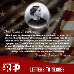 A letter to Susan B Anthony